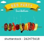 bbq  barbecue menu  party... | Shutterstock .eps vector #262475618