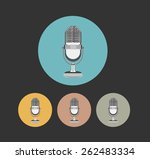 retro microphone flat style... | Shutterstock .eps vector #262483334