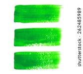 green acrylic painted vector... | Shutterstock .eps vector #262485989
