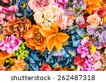 Stock photo flower background vintage effect style pictures 262487318