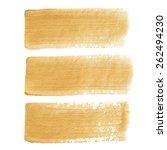 gold acrylic vector brush...   Shutterstock .eps vector #262494230