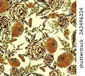 seamless floral pattern.... | Shutterstock .eps vector #262496324