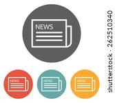 newspaper icon | Shutterstock .eps vector #262510340