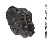 Black Coal Isolated On White...