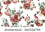 seamless floral pattern with... | Shutterstock . vector #262526744