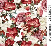 seamless floral pattern with... | Shutterstock . vector #262526774