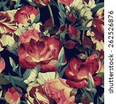 seamless floral pattern with... | Shutterstock . vector #262526876