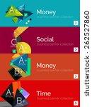 set of infographic flat design...   Shutterstock .eps vector #262527860