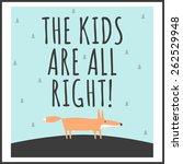 stylish children's poster with... | Shutterstock .eps vector #262529948