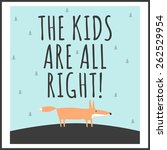stylish children's poster with...   Shutterstock . vector #262529954