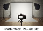 photo studio light setup with... | Shutterstock . vector #262531739