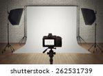 photo studio light setup with... | Shutterstock . vector #262531739