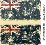 old scratched flag. vector... | Shutterstock .eps vector #262538690