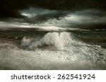 view of storm seascape | Shutterstock . vector #262541924