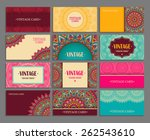 business card collection.... | Shutterstock .eps vector #262543610