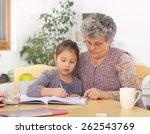grandmother and daughter... | Shutterstock . vector #262543769