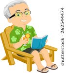 illustration of a senior... | Shutterstock .eps vector #262544474