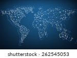 global network mesh. social... | Shutterstock .eps vector #262545053