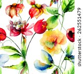 seamless wallpapers with... | Shutterstock . vector #262551479