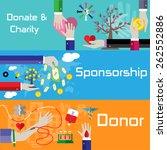 flat style charity  sponsorship ...   Shutterstock .eps vector #262552886