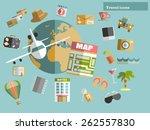 flat design style modern vector ... | Shutterstock .eps vector #262557830