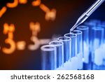 laboratory research  dropping... | Shutterstock . vector #262568168