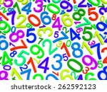 background of numbers. from... | Shutterstock . vector #262592123