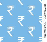 rupee blue with white seamless... | Shutterstock .eps vector #262596980