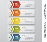design clean number banners... | Shutterstock .eps vector #262599236