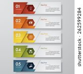 design clean number banners...   Shutterstock .eps vector #262599284