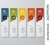 design clean number banners... | Shutterstock .eps vector #262599290