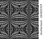 seamless vintage lace pattern ... | Shutterstock .eps vector #262601519