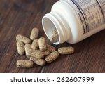 vitamin pills. selective focus  ...   Shutterstock . vector #262607999