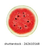 Half Of Watermelon Isolated On...