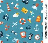 illustration of vector travel... | Shutterstock .eps vector #262613360