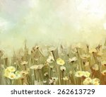 Vintage Oil Painting Daisy...