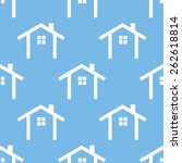 home blue with white seamless... | Shutterstock .eps vector #262618814