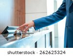 service  please. closeup of a... | Shutterstock . vector #262625324