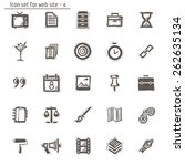 icons sketches for the site.... | Shutterstock .eps vector #262635134