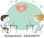 vector illustration of girl and ... | Shutterstock .eps vector #262636079