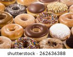Horizontal Background Of Donut...