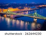 liberty bridge at night in... | Shutterstock . vector #262644230