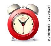 realistic alarm clock   Shutterstock .eps vector #262646264
