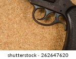 Part Of Handgun On Cork...