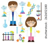 chemist vector illustration | Shutterstock .eps vector #262652180