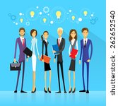 businesspeople team group idea... | Shutterstock .eps vector #262652540
