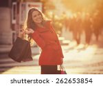 Shopping Girl   Vintage Style...