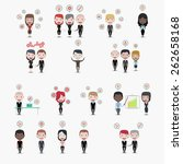 business people  skills icons | Shutterstock .eps vector #262658168