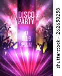 disco party background   vector ...   Shutterstock .eps vector #262658258
