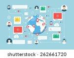 social network  communication.... | Shutterstock .eps vector #262661720